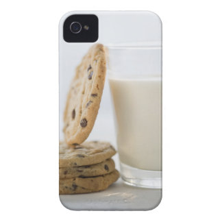 Glass of milk and cookies, close-up Case-Mate iPhone 4 cases