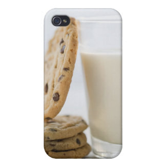 Glass of milk and cookies, close-up iPhone 4/4S cover