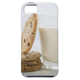 Glass of milk and cookies, close-up iPhone 5 case
