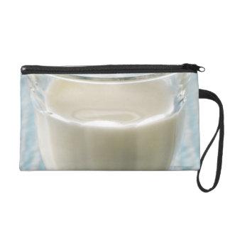 Glass of milk wristlet purse