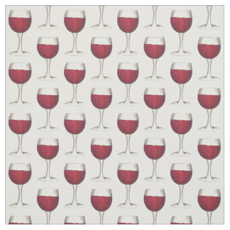 Glass of Red Wine Tasting Drinking Glasses Fabric
