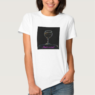 Glass of Wine baby doll t-shirt