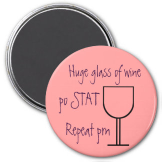 Glass of wine order magnet