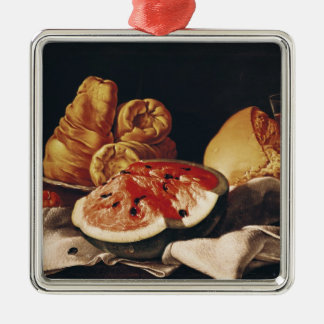 Glass of Wine, Watermelon and Bread Christmas Ornament