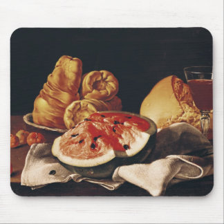 Glass of Wine, Watermelon and Bread Mouse Mat