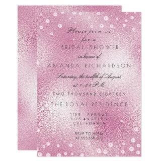 Glass Pink Pastel Confetti Pearls Bridal Shower 11 Cm X 16 Cm Invitation Card