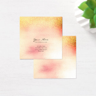 Glass Pink Peach Rose Gold Peach Ombre Square Vip Square Business Card