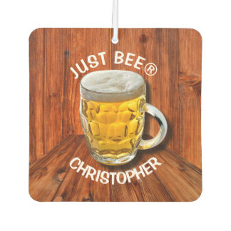 Glass Pint Beer Mug With White Head With Your Text