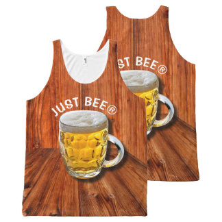 Glass Pint Beer Mug With White Head With Your Text All-Over Print Tank Top