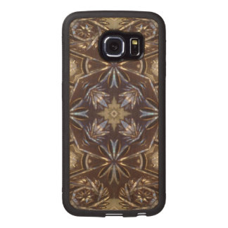 glass plate abstract pattern wood phone case