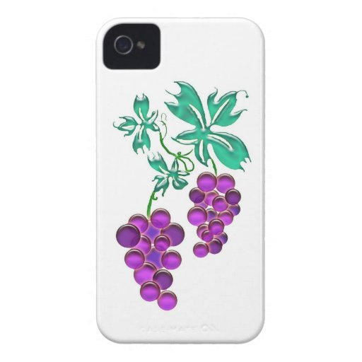 Glass Purple Grape Cluster iPhone 4 Cases