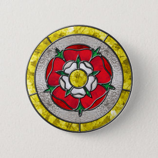 Glass Rose 6 Cm Round Badge