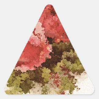 Glass Roses Triangle Sticker
