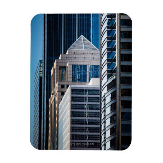 Glass skyscrapers line Chicago's financial Rectangular Photo Magnet