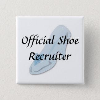 Glass Slipper, Official Shoe Recruiter 15 Cm Square Badge