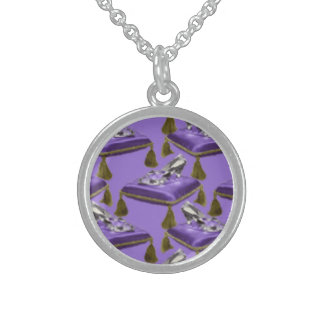 glass slippers jewelry necklace round pendant necklace