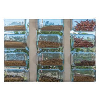 Glass spice jars placemat