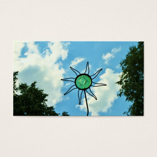 Glass Sun Sculpture in the Sky Business Card