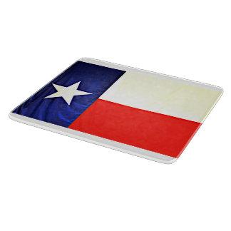 Glass Texas Flag Cutting Board