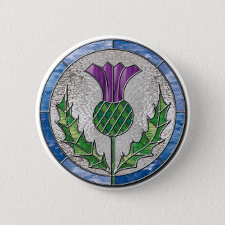 Glass Thistle 6 Cm Round Badge