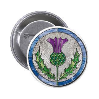 Glass Thistle 6 Cm Round Badge
