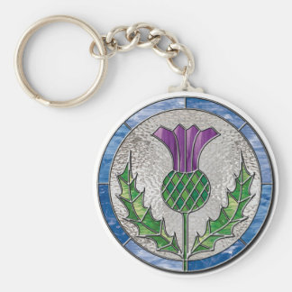 Glass Thistle Key Ring