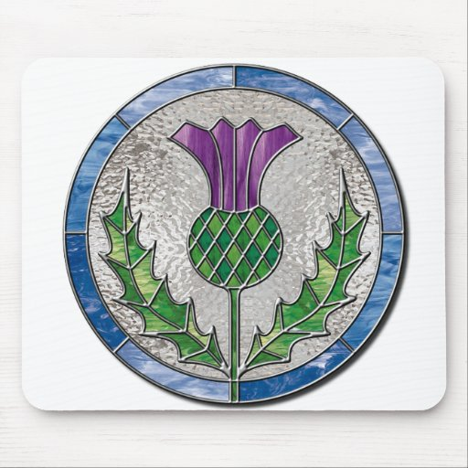 Glass Thistle Mouse Pad