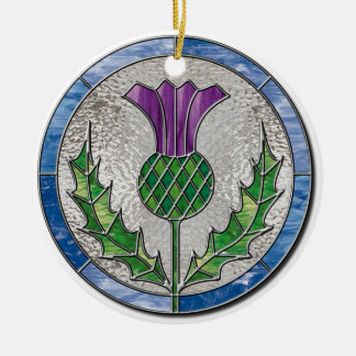 Glass Thistle Ornament