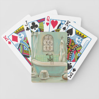Glass Tile Bath Bicycle Playing Cards