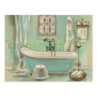 Glass Tile Bath Postcard