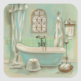 Glass Tile Bath Square Sticker