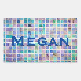 Glass Tile Mosaic cool modern colorful Rectangular Sticker