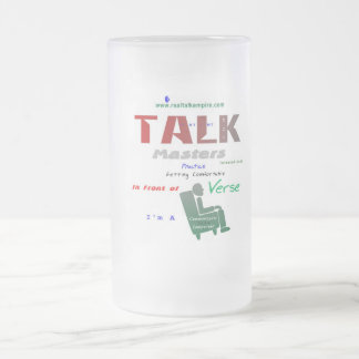 glass - toast frosted glass mug