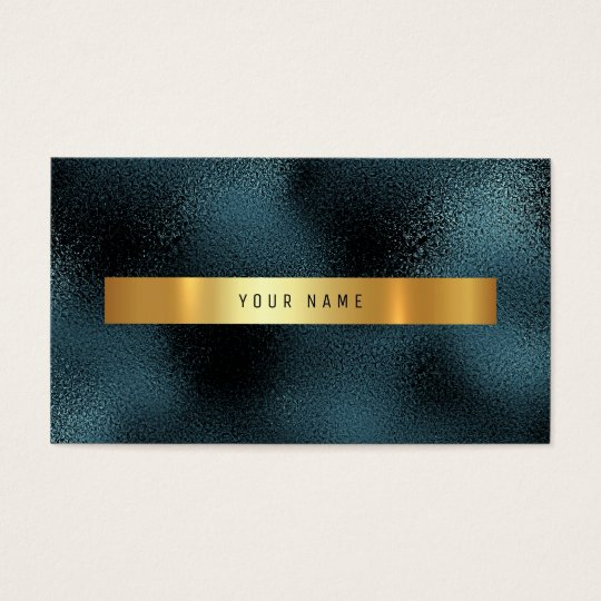 Glass Tropical Green Gold Teal Vip Business Card