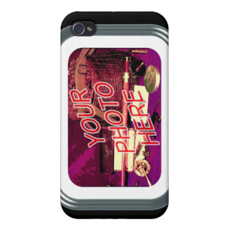 Glass Tube Frame Template iPhone 4 Case