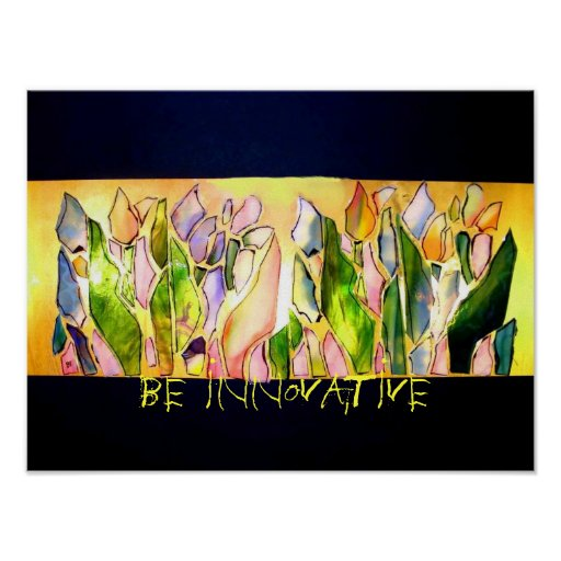 Glass Tulip Square Be Innovative Poster