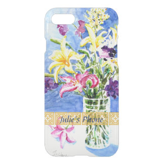 Glass Vase of Exotic Flowers with Your Name iPhone 8/7 Case