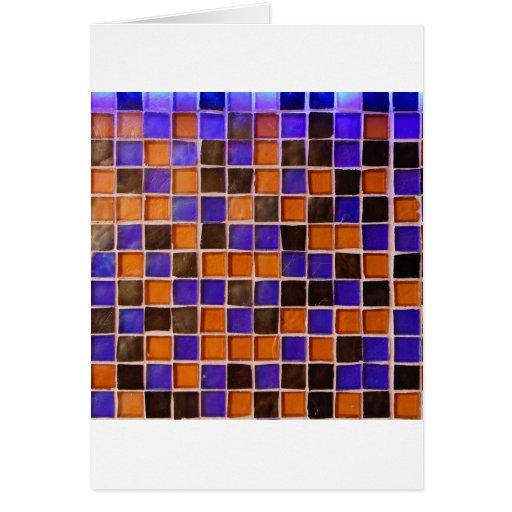 Glass Wall Orange Blue Backsplash Funny Color Cards