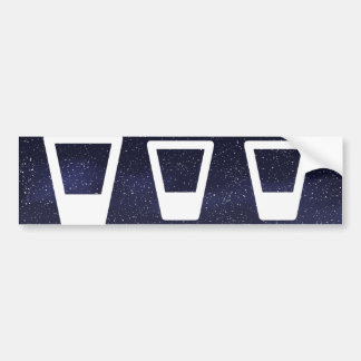 Glass Waters Pictogram Bumper Sticker
