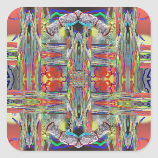 Glass Weaving Abstract Square Sticker