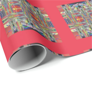 Glass Weaving Squares Wrapping Paper
