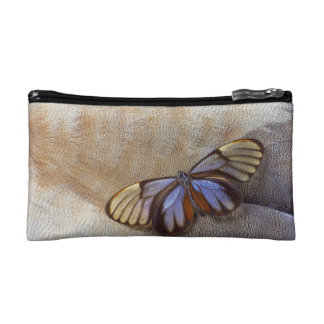 Glass-wing Butterfly Egyptian Goose Feather Cosmetic Bag