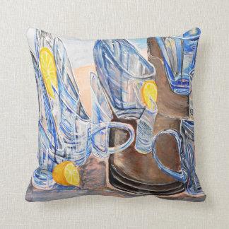 Glasses and lemons cushion