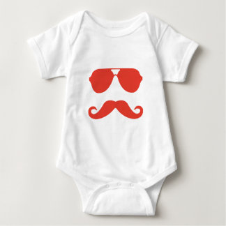 Glasses and Mustache Baby Bodysuit