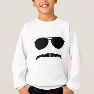 Glasses and Mustache Sweatshirt
