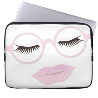 Glasses are Pretty in Pink 13 inch Laptop Sleeve