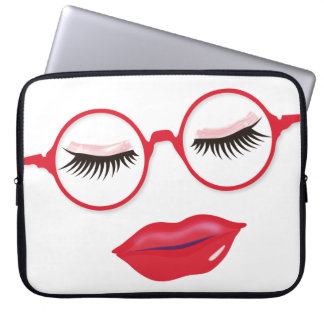Glasses are Pretty in Red 15 inch Laptop Sleeve