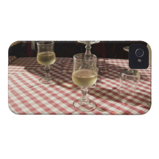 Glasses for water and wine on outdoor red iPhone 4 covers