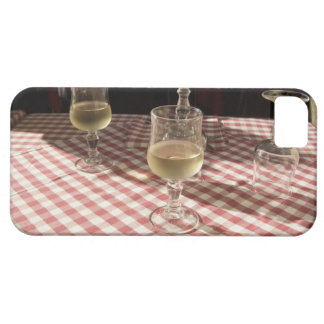 Glasses for water and wine on outdoor red iPhone 5 covers