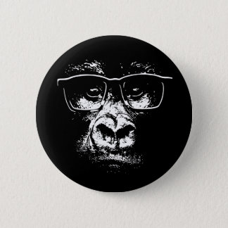 Glasses Gorilla 6 Cm Round Badge